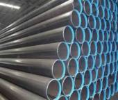 The spiral welded steel pipe is stored in a well ventilated shed